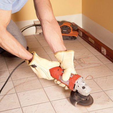 Tile Installation  How to Tile Over Existing Tile   The Family Handyman Tile Installation  How to Tile Over Existing Tile