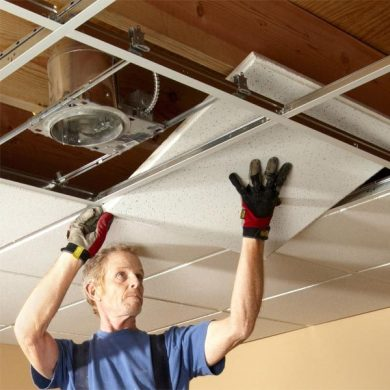Drop Ceiling Installation Tips   The Family Handyman Drop Ceiling Installation Tips