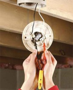 How to Replace A Pull Chain Light Fixture   The Family Handyman How to Replace a Pull Chain Light Fixture