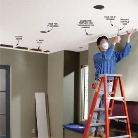 Installing Recessed Lighting for Dramatic Effect   The Family Handyman Installing Recessed Lighting for Dramatic Effect