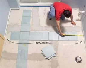 How to Lay Tile  Install a Ceramic Tile Floor In the Bathroom   The     how to install tile