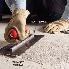 How to Remove Tile From a Concrete Floor   The Family Handyman How to Remove Tile From a Concrete Floor