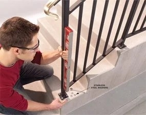Safety First Install An Outdoor Stair Railing — The Family Handyman | Outdoor Stair Railing Installers Near Me | Transitional Handrail | Cable Railing | Glass Railing | Porch Railing Kits | Vinyl Railing