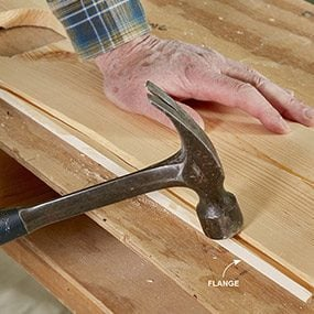 How to Install a Tongue and Groove Ceiling   The Family Handyman Break off the groove flanges