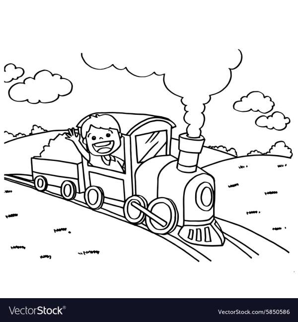 train coloring # 11