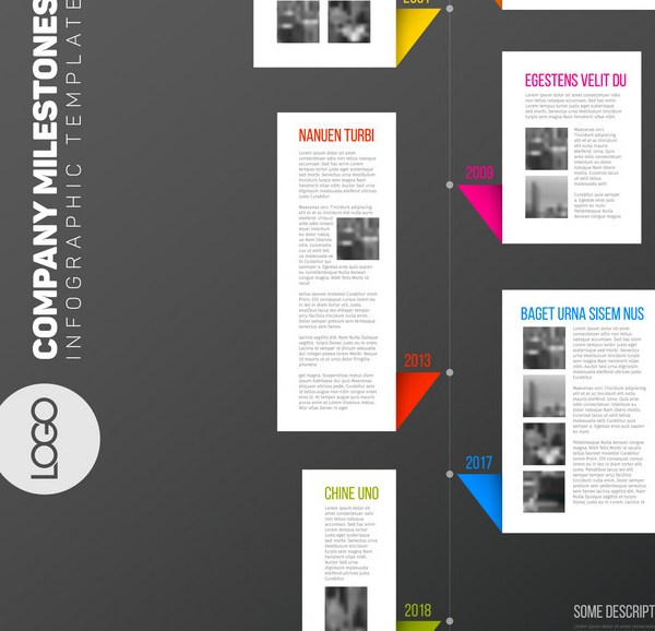 Grabs Full Pixels » Vertical infographic timeline report template Vector Image