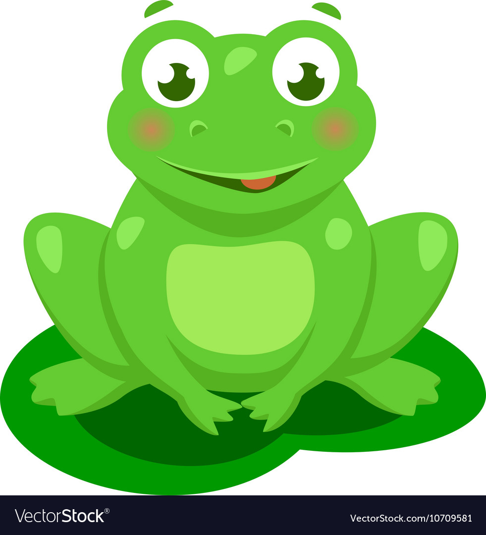 Cute Frog Cartoon Isolated Royalty Free Vector Image