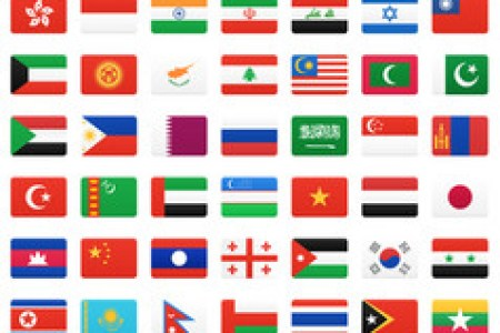 asian countries flags with names hd images wallpaper for