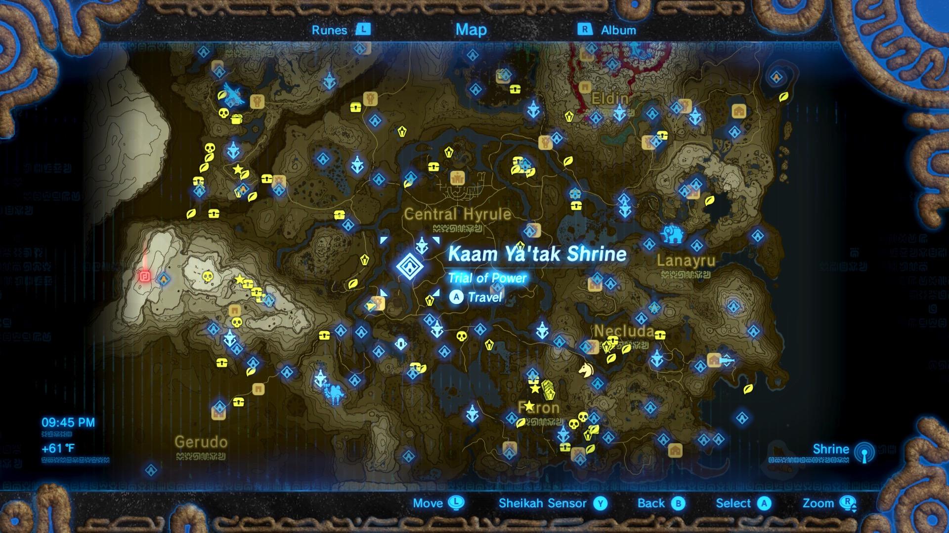 Shrine Breath Map Zelda Wild Locations All