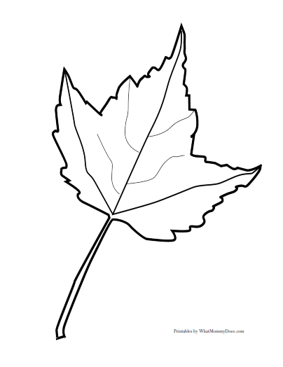 Free printable fall leaf templates maple leaves patterns, i love you mommy coloring pages