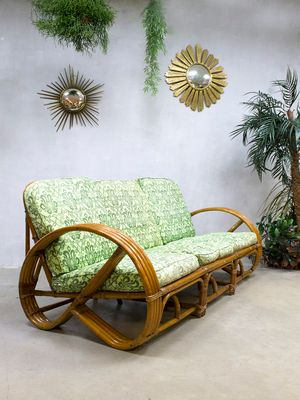 Vintage Rattan   Bamboo Lounge Sofa from Roh     Noordwolde for sale at     Vintage Rattan   Bamboo Lounge Sofa from Roh     Noordwolde 1