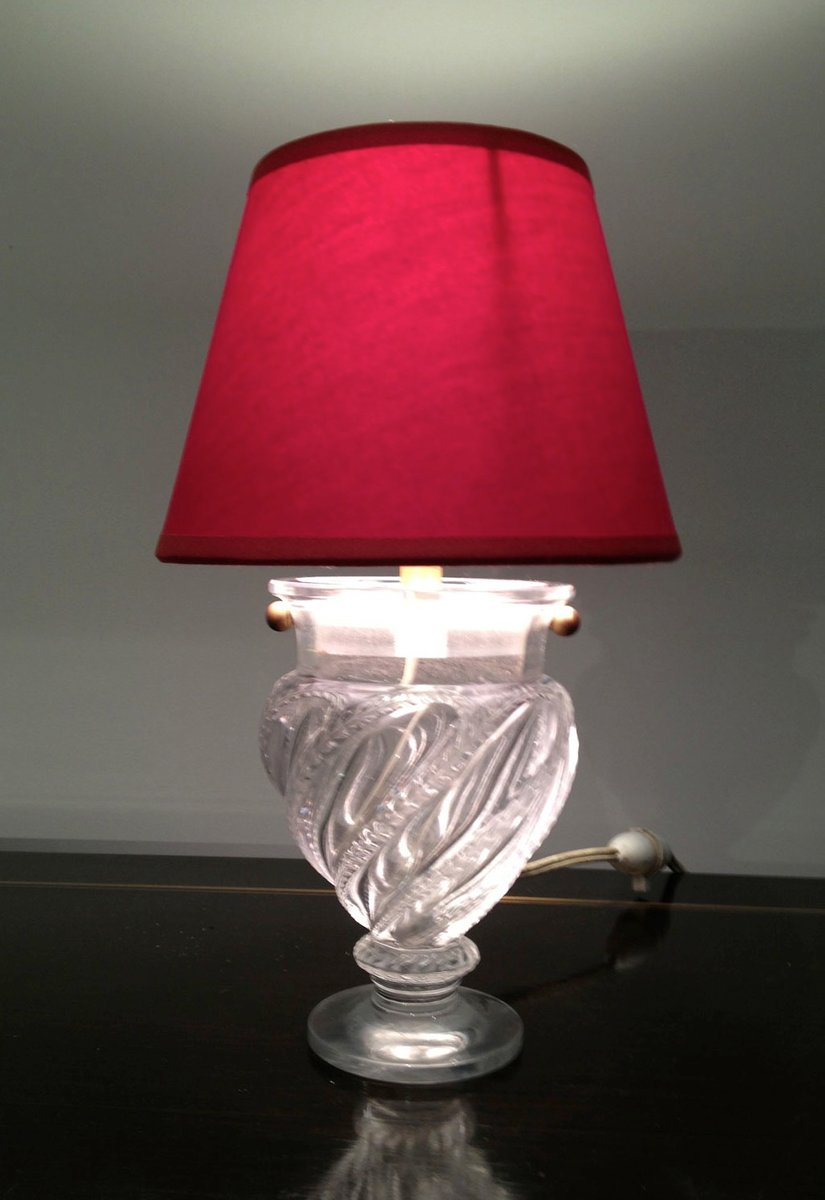 Small Glass Table Lamp 1940s For Sale At Pamono