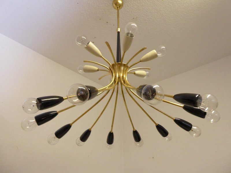 Mid Century Sputnik Ceiling Lamp  1950s for sale at Pamono Mid Century Sputnik Ceiling Lamp  1950s