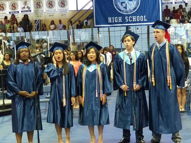 Bulletin Board High School Graduation Caps