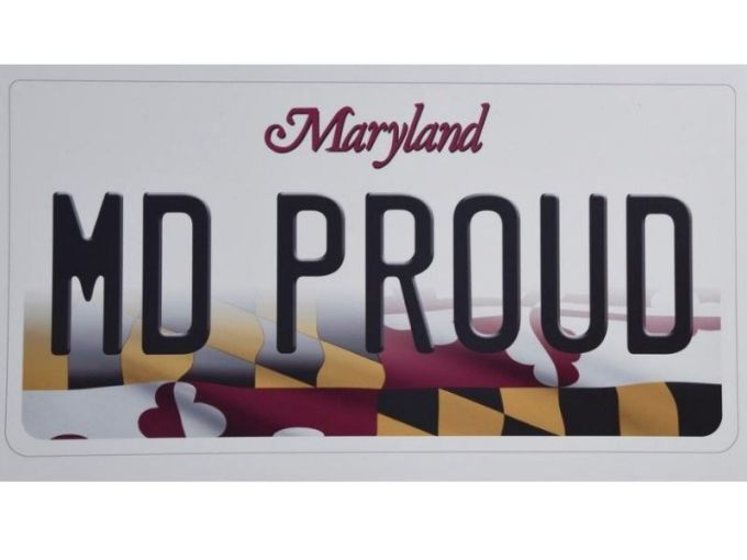 New Maryland License Plate Features State Flag   Towson  MD Patch New Maryland License Plate Features State Flag