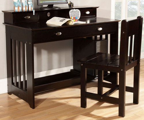 Espresso Student Desk   Solid wood kids desk   Discovery World Furniture Espresso Student Desk   Discovery World Furniture   DWF2967