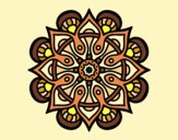 Natural Flower Mandala Coloring Page Coloringcrew Com