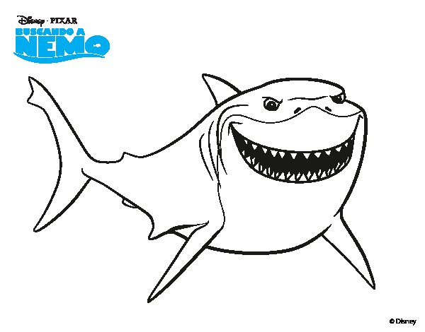 Finding Nemo Bruce Coloring Pages