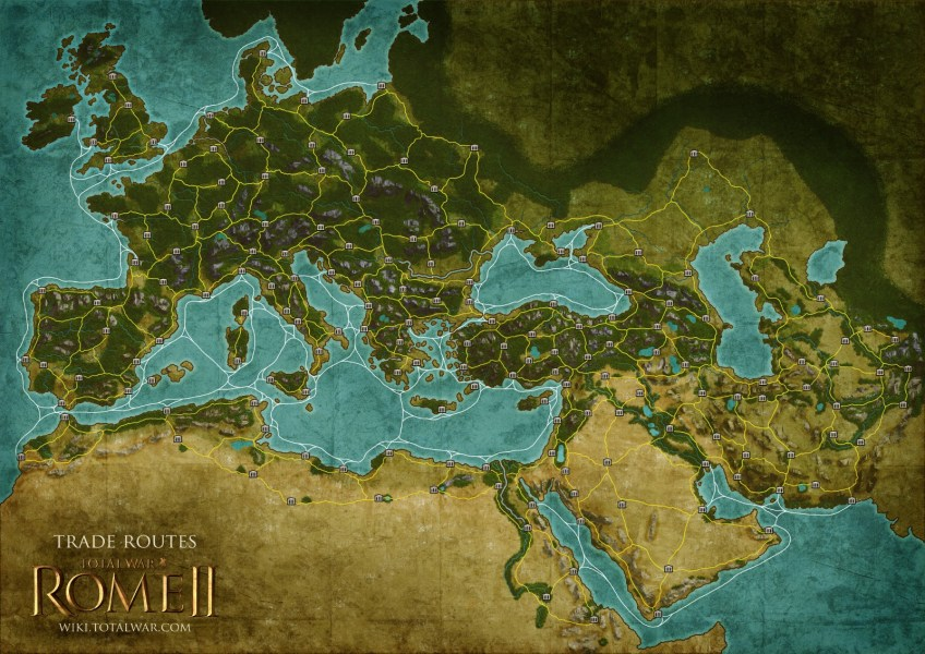 Check out the Trade Routes Map of Total War  Rome II