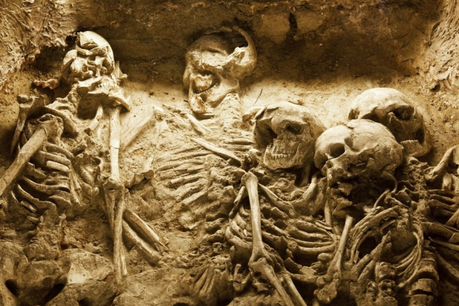 How China s history of human sacrifice led to Ching Ming Festival s     The skeletons of a family in an ancient sacrifice pit in China
