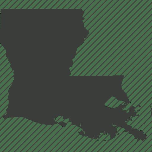 America, location, louisiana, map, state, usa icon