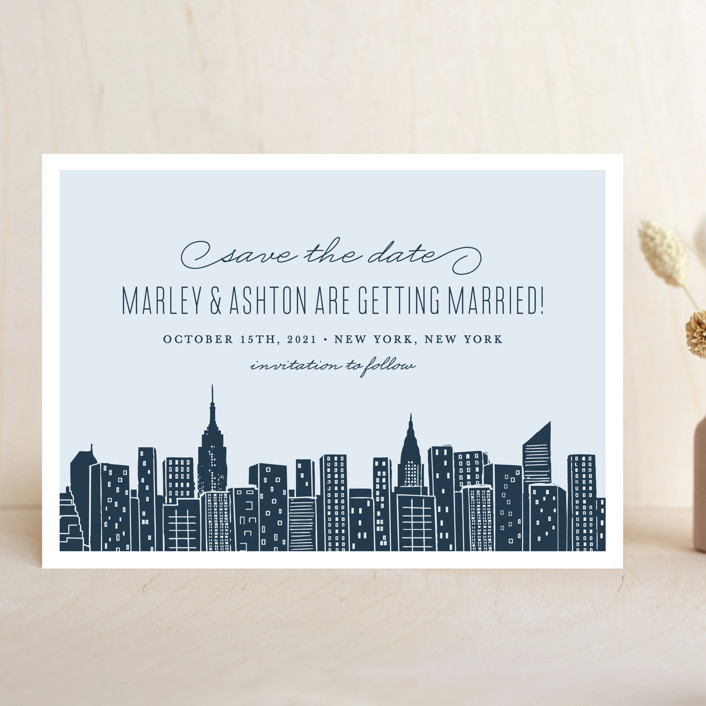 Save Date Cards New York Theme