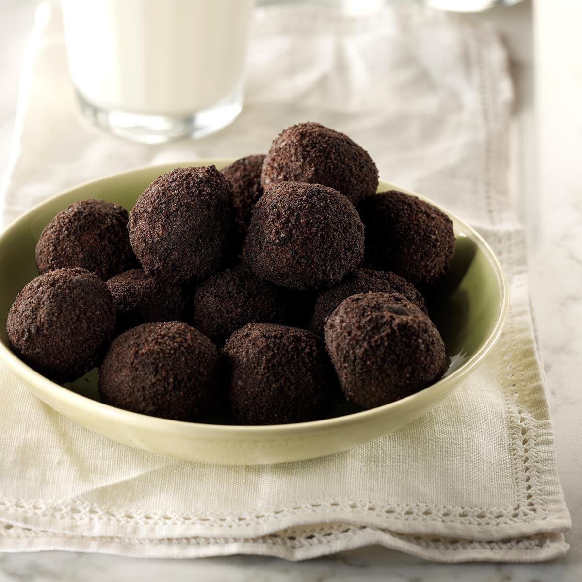 Chocolate Rum Balls Recipe Taste Of Home