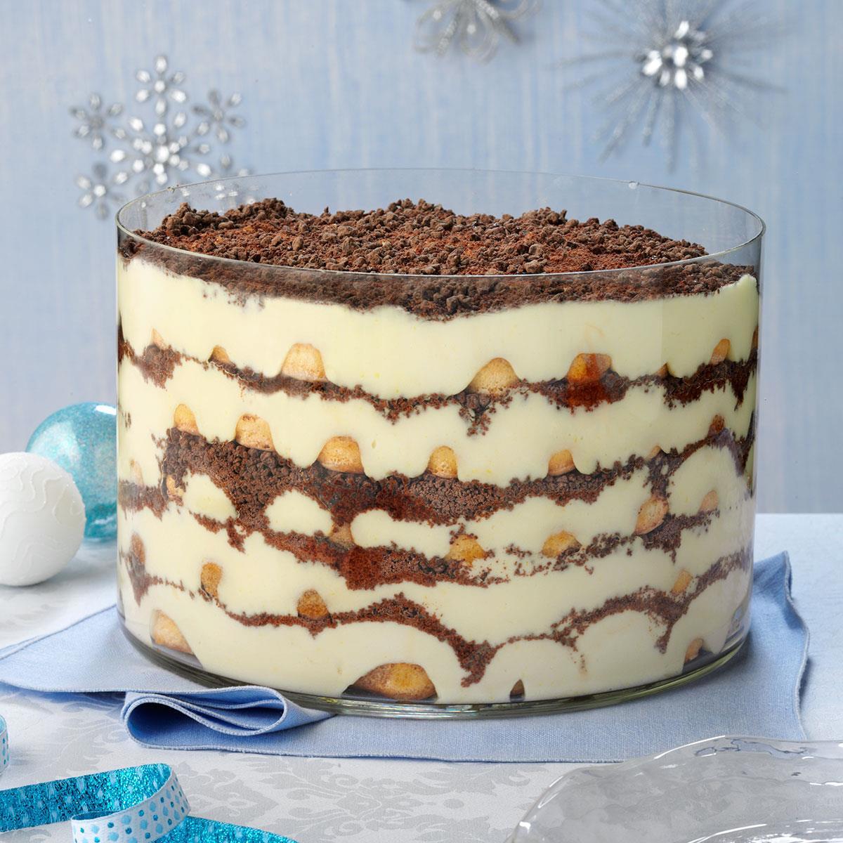 Eggnog Tiramisu Trifle Recipe Taste Of Home