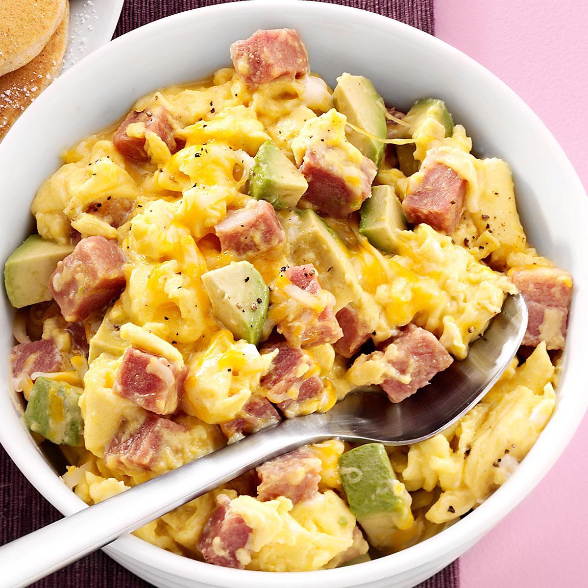 Ham And Avocado Scramble Recipe Taste Of Home