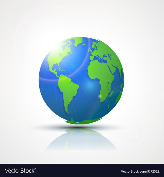 World Globe Map   America Africa and Europe Vector Image