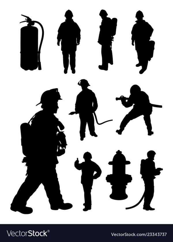 fireman silhouette clip art # 8