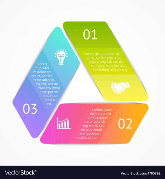 Triangle infographic Template for cycle Royalty Free Vector Triangle infographic Template for cycle vector image