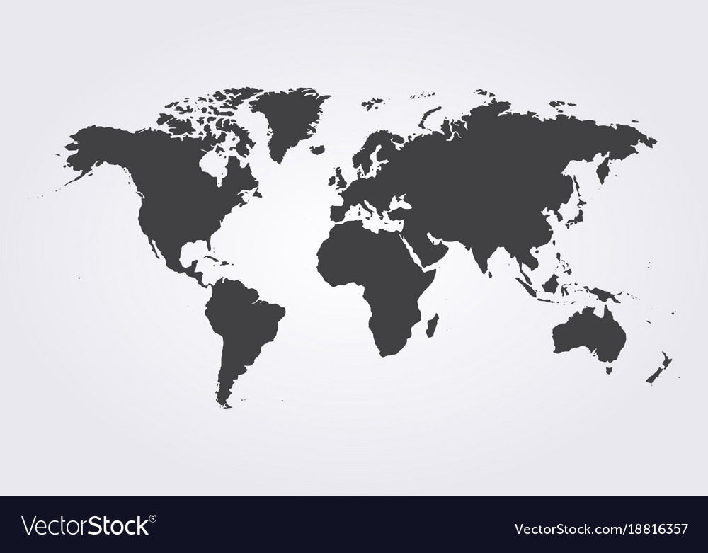 World map globe template for website Royalty Free Vector World map globe template for website vector image
