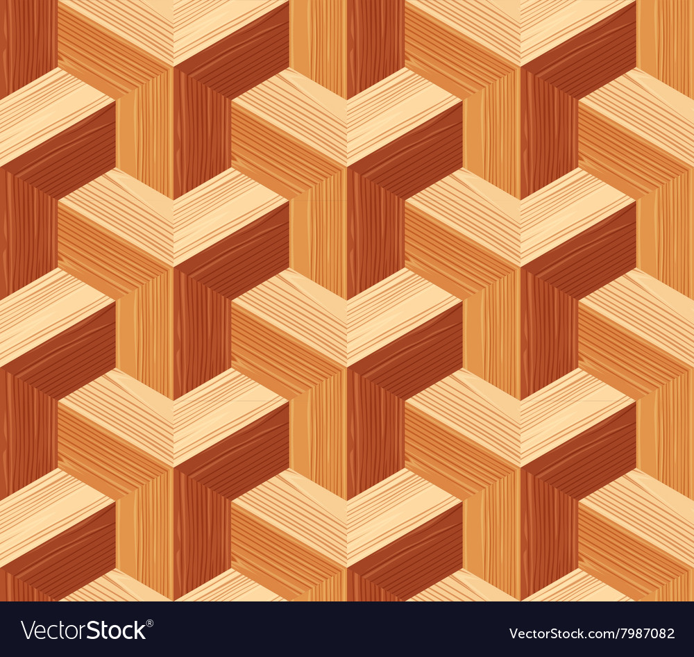 Parquet 3d Seamless Floor Pattern Royalty Free Vector Image Parquet 3d Seamless Floor Pattern vector image