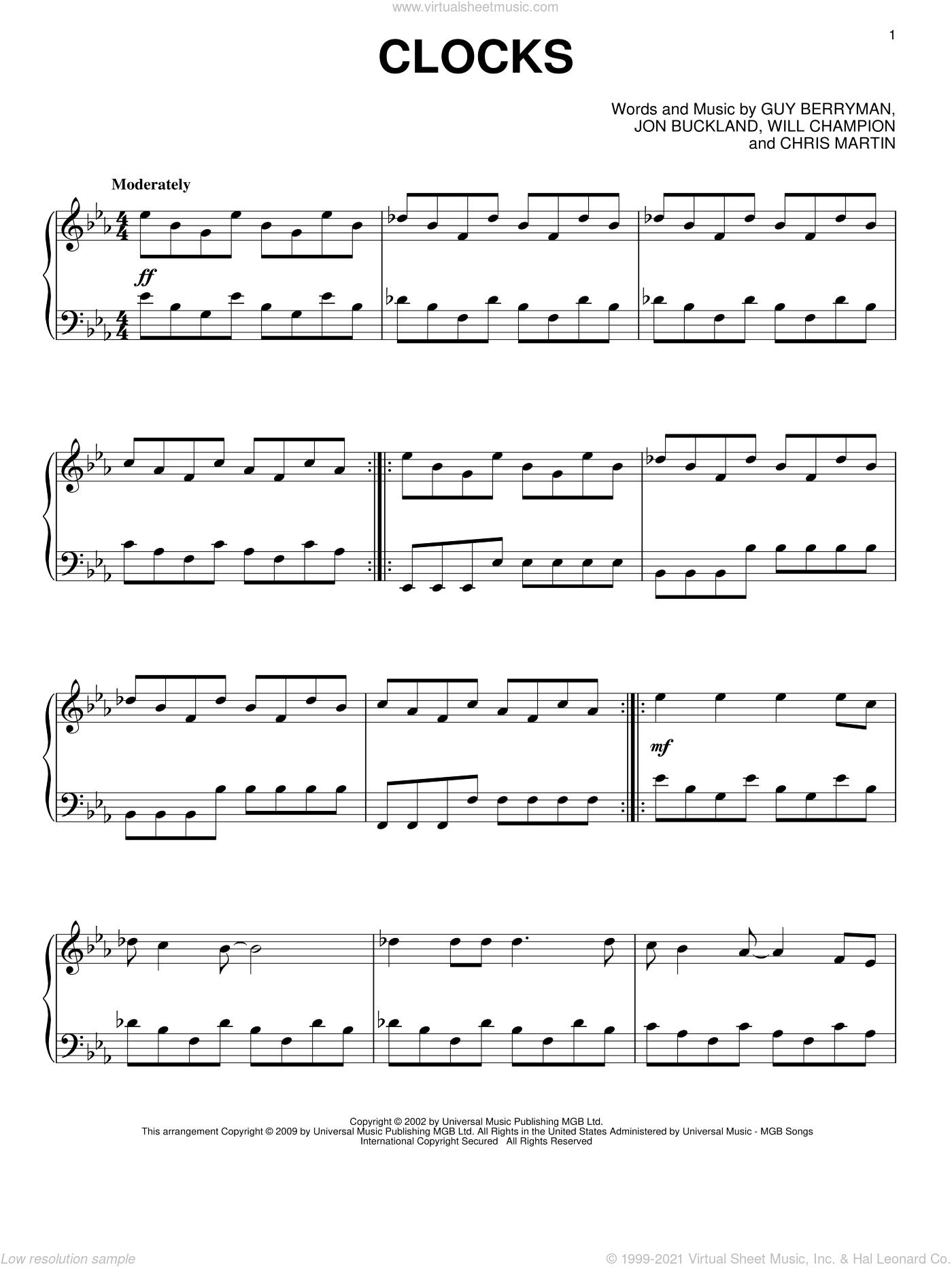Coldplay Violin Sheet Music