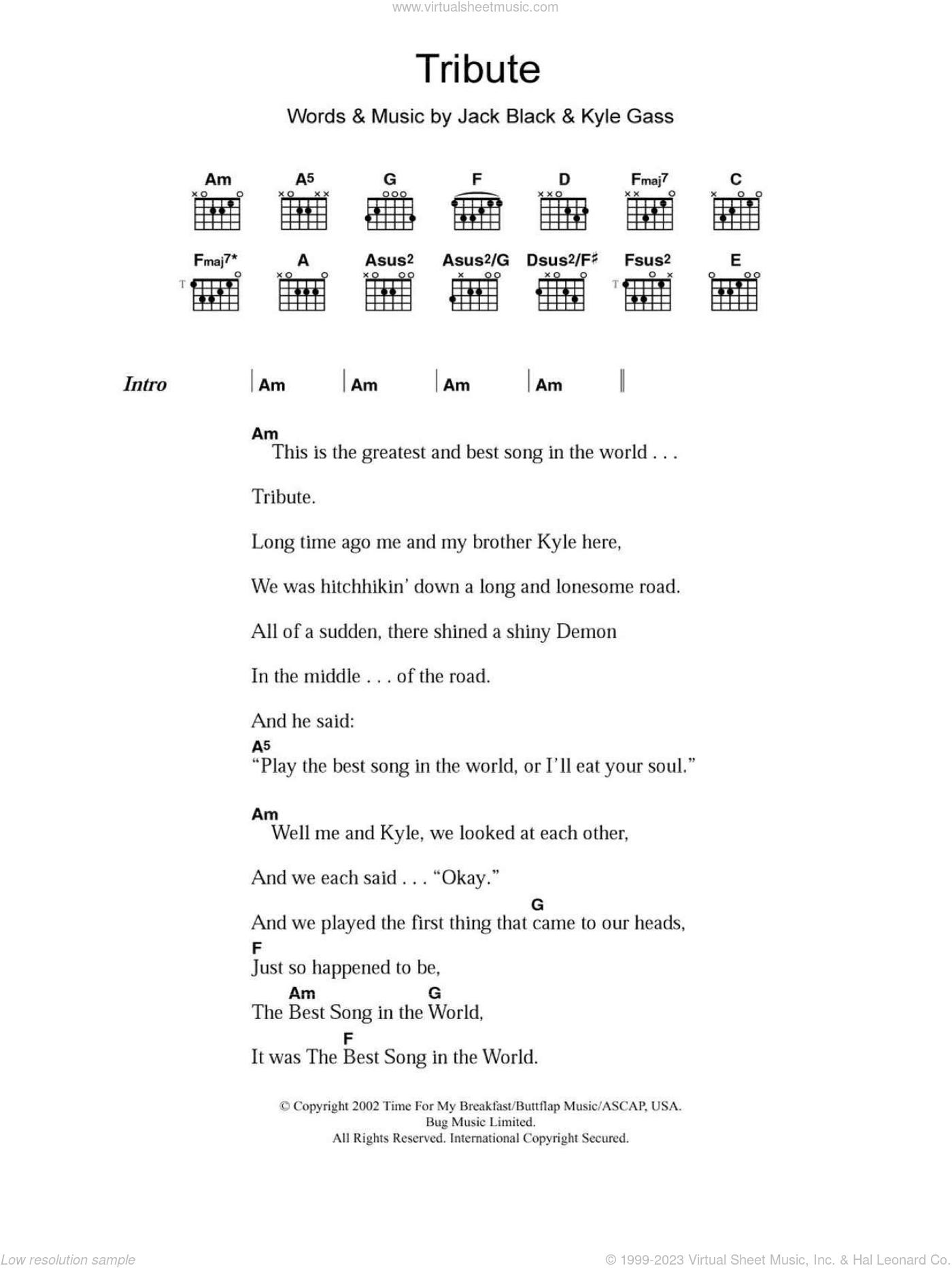 tenacious d tribute lyrics - 560×720