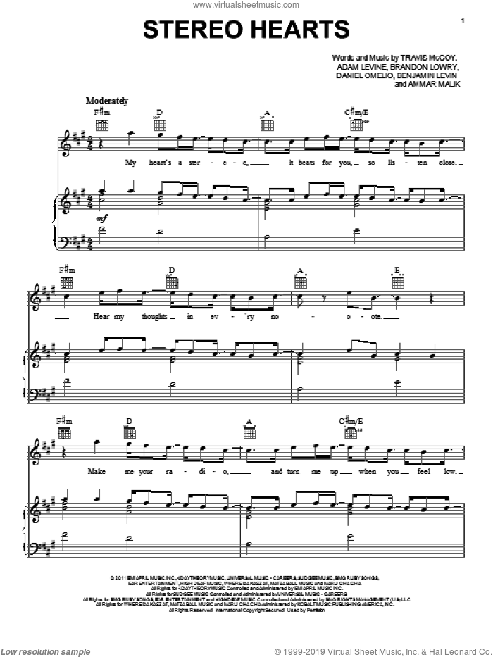 Stereo Hearts Sheet Music Trombone
