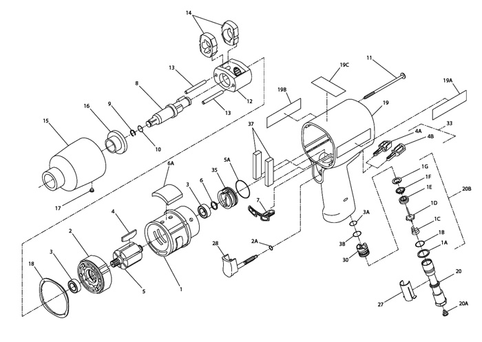 Air Impact Wrench Parts Diagram