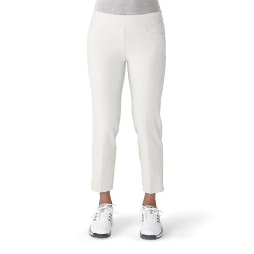 Adidas Essentials Puremotion Cropped Golf Pant   White   Golf4Her Adidas Essentials Puremotion Cropped Golf Pant   White
