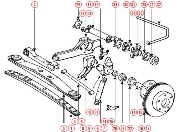 C2 Corvette Rear Suspension Diagram