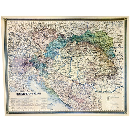 Polish Art Center   Map 1867 1918 Oesterreich Ungarn  Austria Hungary  Alternative Views