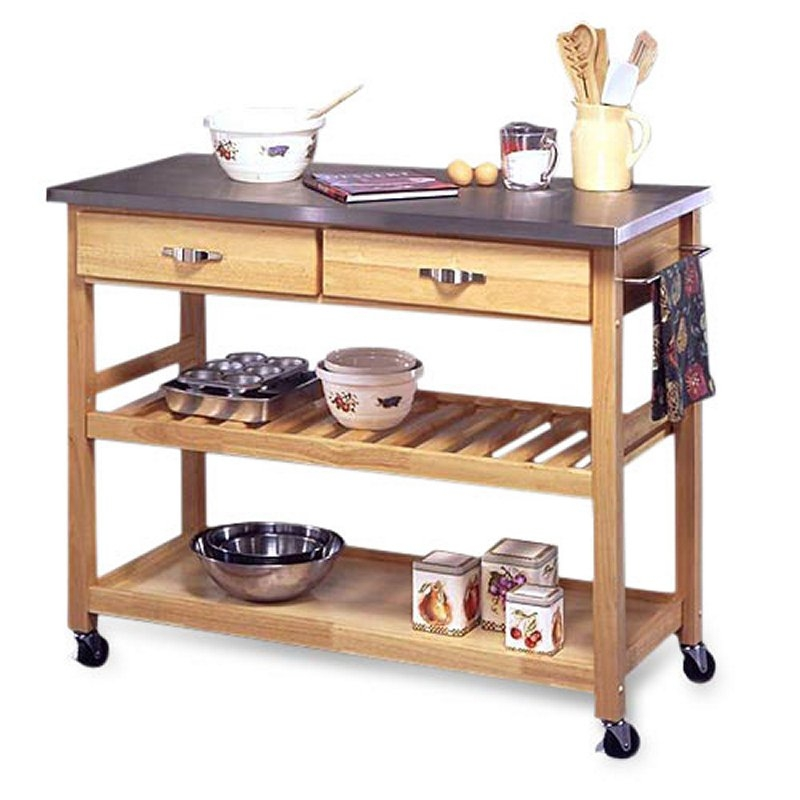 Utility Table Cart Or Wooden