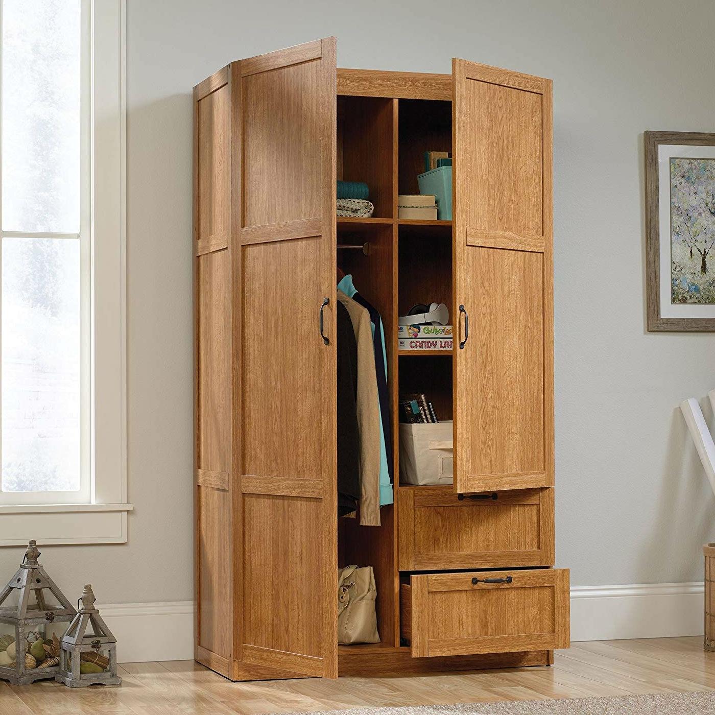 Best Kitchen Gallery: Bedroom Wardrobe Cabi Storage Closet Organizer In Medium Oak of Bedroom Wardrobe Cabinet on rachelxblog.com