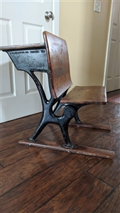 A H Anderson Antique School Desk