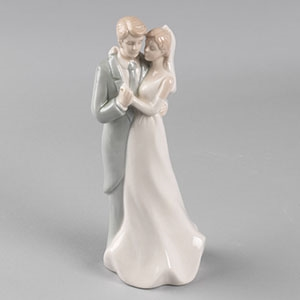 Dancing Couple Porcelain Wedding Cake Topper BG 900 Dancing Couple Porcelain Wedding Cake Topper