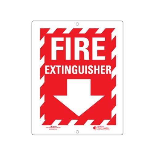 Plastic Sign Fire Extinguisher + Arrow