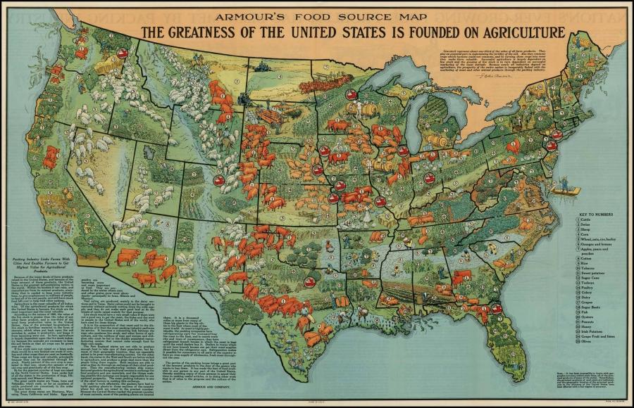 Minnesota Agriculture in the Classroom     of Map  1  American Agriculture in 1922 from 40 Maps That Explain Food  in America  Instruct students to compare the agricultural products  currently