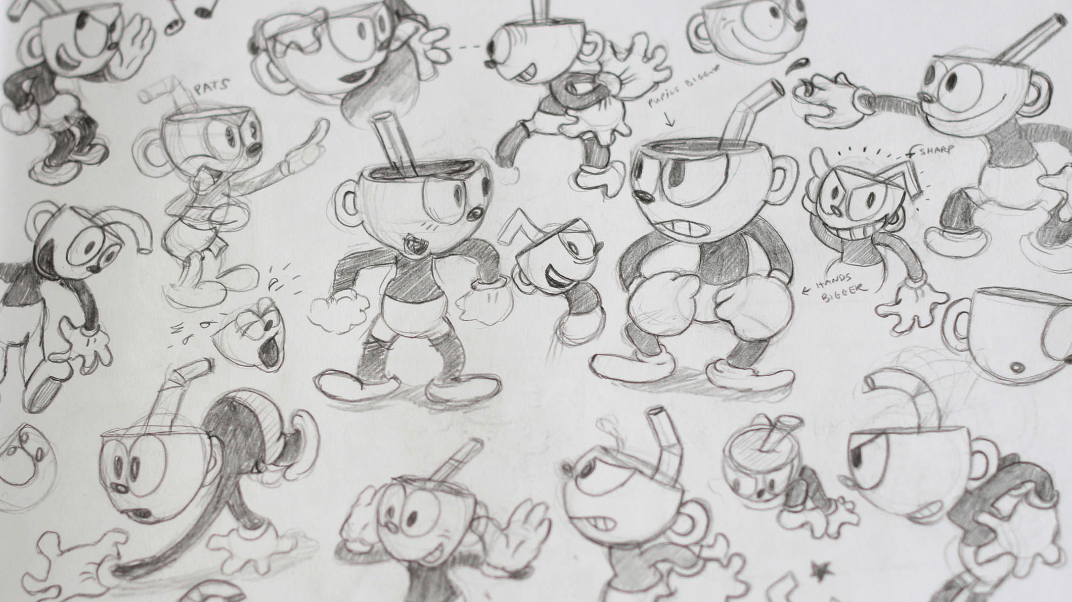 Drawing Characters Cartoon Paper Grid Cool