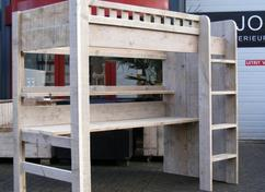 Halfhoogslaper Steigerhout Zitje : Steigerhout atelier de sweach