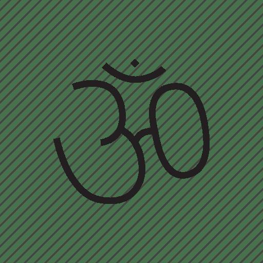 Hindu, hinduism, om, religion, religious symbol, symbol icon
